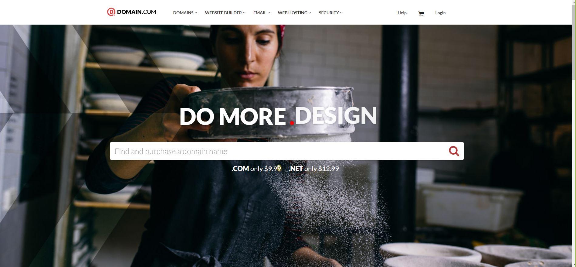 domain dot com screen