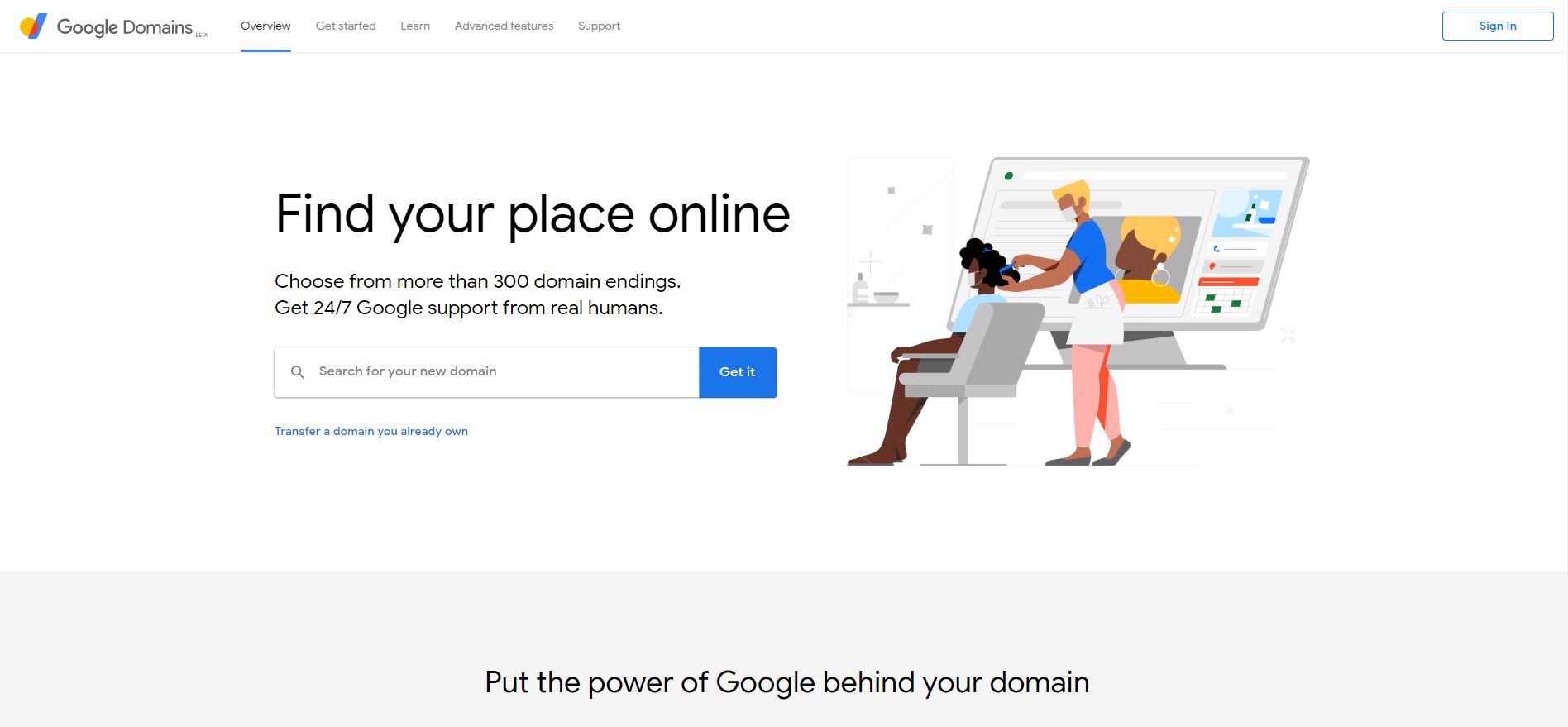 google domains screen