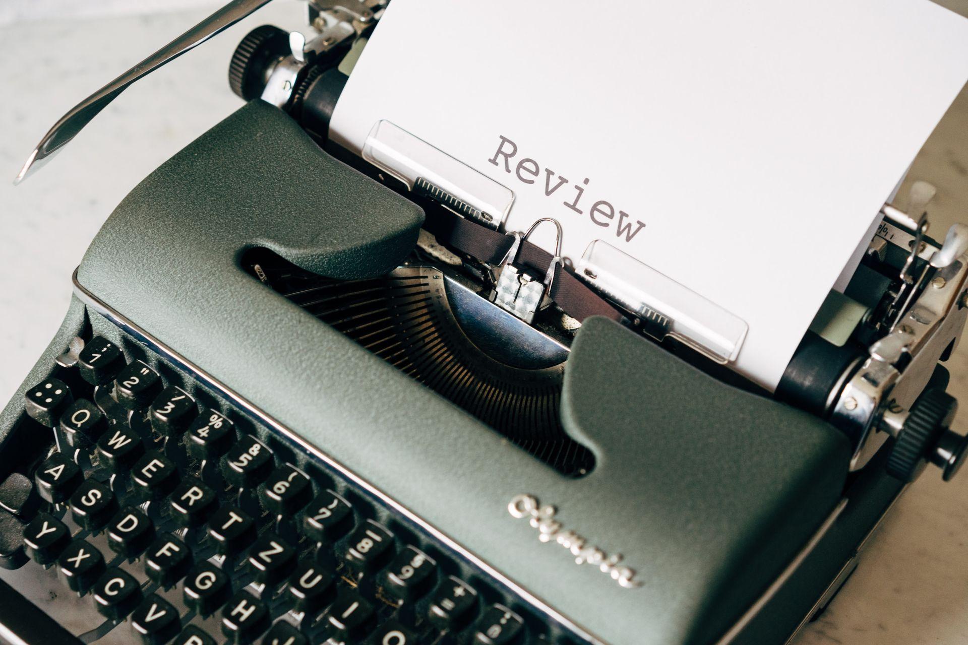 review typewriter
